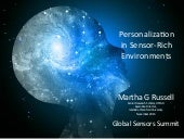PERSONALIZATION IN SENSOR-RICH ENVIRONMENTS