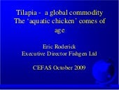 A global outlook for Tilapia and th...
