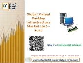Global virtual desktop infrastructure market 2016   2020