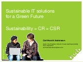 Sustainable IT solutions for a Gree...