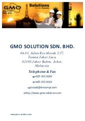 GMO Company Profile & Catalog