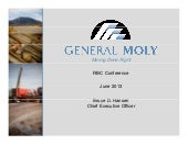 General Moly, Inc. video