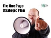 The One Page Strategic Plan