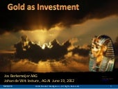 Gold as Investment