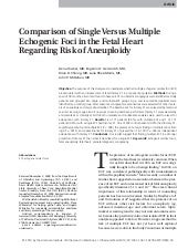 Single Versus Multiple Echogenic Fo...