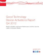 Good Technology Device Activations ...
