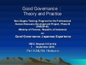 Good governance theory and practice08