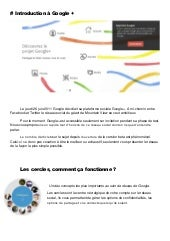 Tutorial Google+