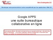 Google Apps bureatique en ligne gra...