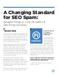 Google's Penguin's declining seo spam tolerance
