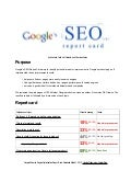 Google Seo Report Card