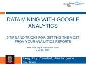 Data mining with Google analytics