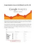 Google analytics account limit raised from 25 to 100