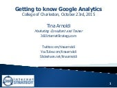 Google Analytics - COFC Digital Marketing - Oct 2015