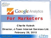 Google analytics for marketers   beyond the basics
