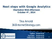 Google Analytics - Charleston Web Afternoon - October 2014