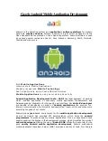 Google android mobile application development