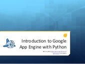 Introduction to Google App Engine with Python