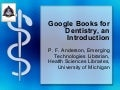 Google Books for Dentistry