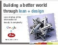 Building a better world through lean + design