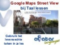 Google Maps Street View in taallessen- hoe je Google maps kan gebruiken in de taalles