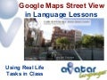 Google Maps Street View in Language Lessons