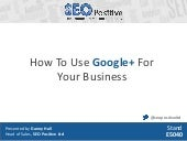 How to use Google+ for your busines...