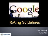 Google Rating Guidelines