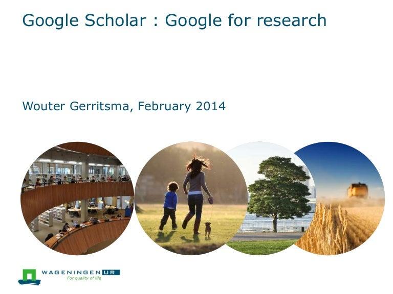 Google scholar ranking