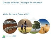 Google scholar : Google for research