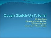 Google sketch up-tutorial