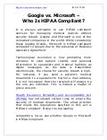 Google vs. Microsoft - Who Is HIPAA Compliant?