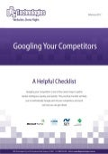 GOOGLING YOUR COMPETITORS (A Helpful  Checklist)