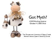 Got Myth? Myths in Software Enginee...