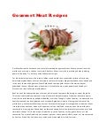 Gourmet Meat Recipes