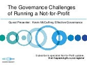 Governance Challenges of Running a ...