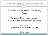 Thinking about Governance: A Story and some Dimension Lines