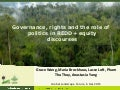 Governance, rights and the role of politics in redd+ equity discourses