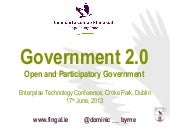 Government 2.0 - Open and Participa...