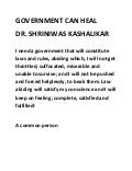 Government can heal dr shriniwas kashalikar