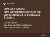 How Government Agencies are Using MongoDB to Build Data as a Service Solutions