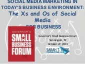Social Media Marketing in Today's Business Environment