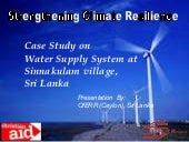 Sri lanka Case Study on  Water Supp...