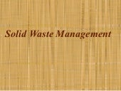 Gp 13 solid waste management