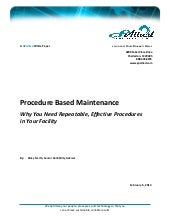 Procedure Based Maintenance White P...