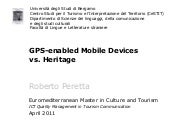 GPS-enabled mobile devices vs. Heri...