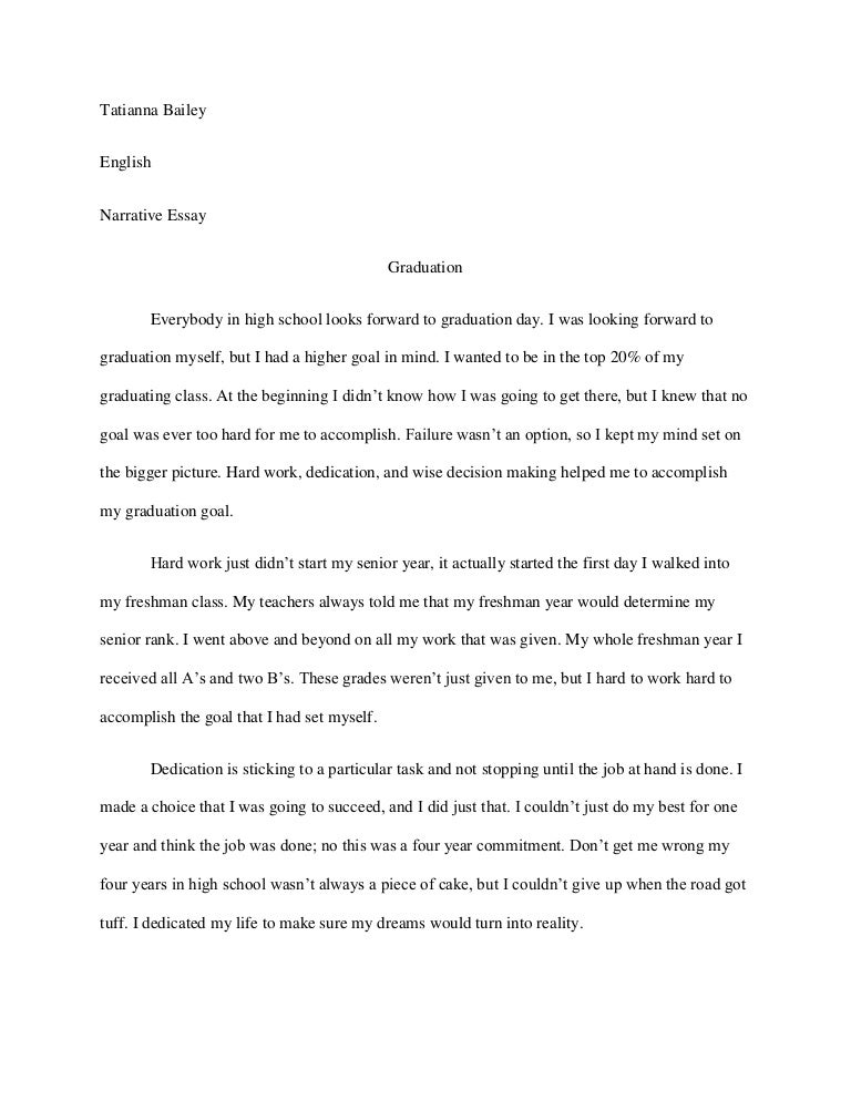 Personal narrative essay?