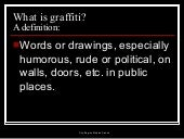 History of Graffiti