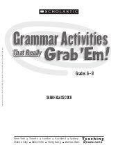 Grammar activities   gr 6-8