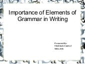 Grammar elements and their effect o...